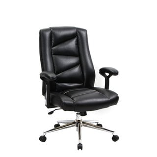 VIVA OFFICE Bonded Leather Thick Padded Office Executive Chair with Soft Spring Pack Padding