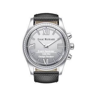 Isaac Mizrahi Silvertone Dial Grey Lizard Strap Y8Q02AA Smartwatch