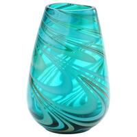 Multicolor Glass Art Vase