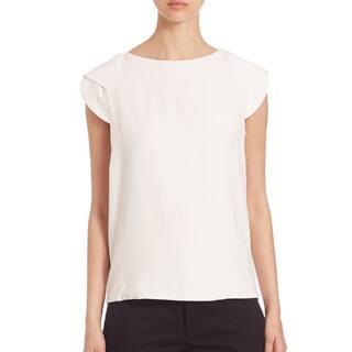 Antonio Berardi Women's White Crepe Sleeveless Cape Top https://ak1.ostkcdn.com/images/products/14521679/P21075878.jpg?impolicy=medium
