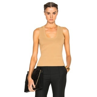A.L.C. Women's Yassmin Nude Nylon-blend Scoop-neck Tank Top