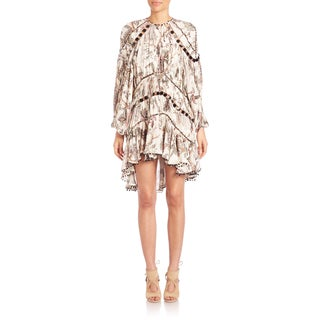 Zimmerman Women's Karmic Aura Floral-print Silk Mirrored Dress