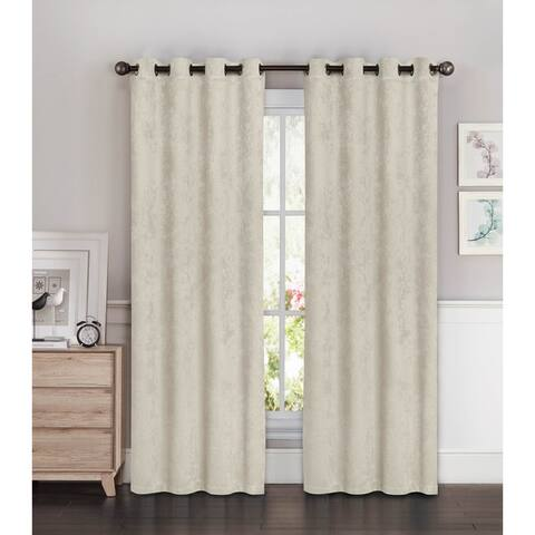 Bella Luna Faux Suede Room Darkening Extra Wide 96-inch Grommet Curtain Panel Pair - 108 x 96 in. - 108 x 96 in.