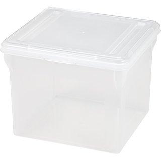 Iris Clear Plastic Letter-size File Cube