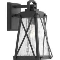 Creighton 1-light Black Aluminum Small Wall Lantern