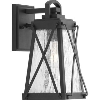 Creighton 1-light Black Aluminum Small Wall Lantern