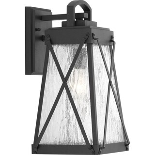 Progress Lighting Creighton 1-light Black Medium Wall Lantern