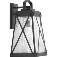 Creighton 1-light Black Aluminum Large Wall Lantern