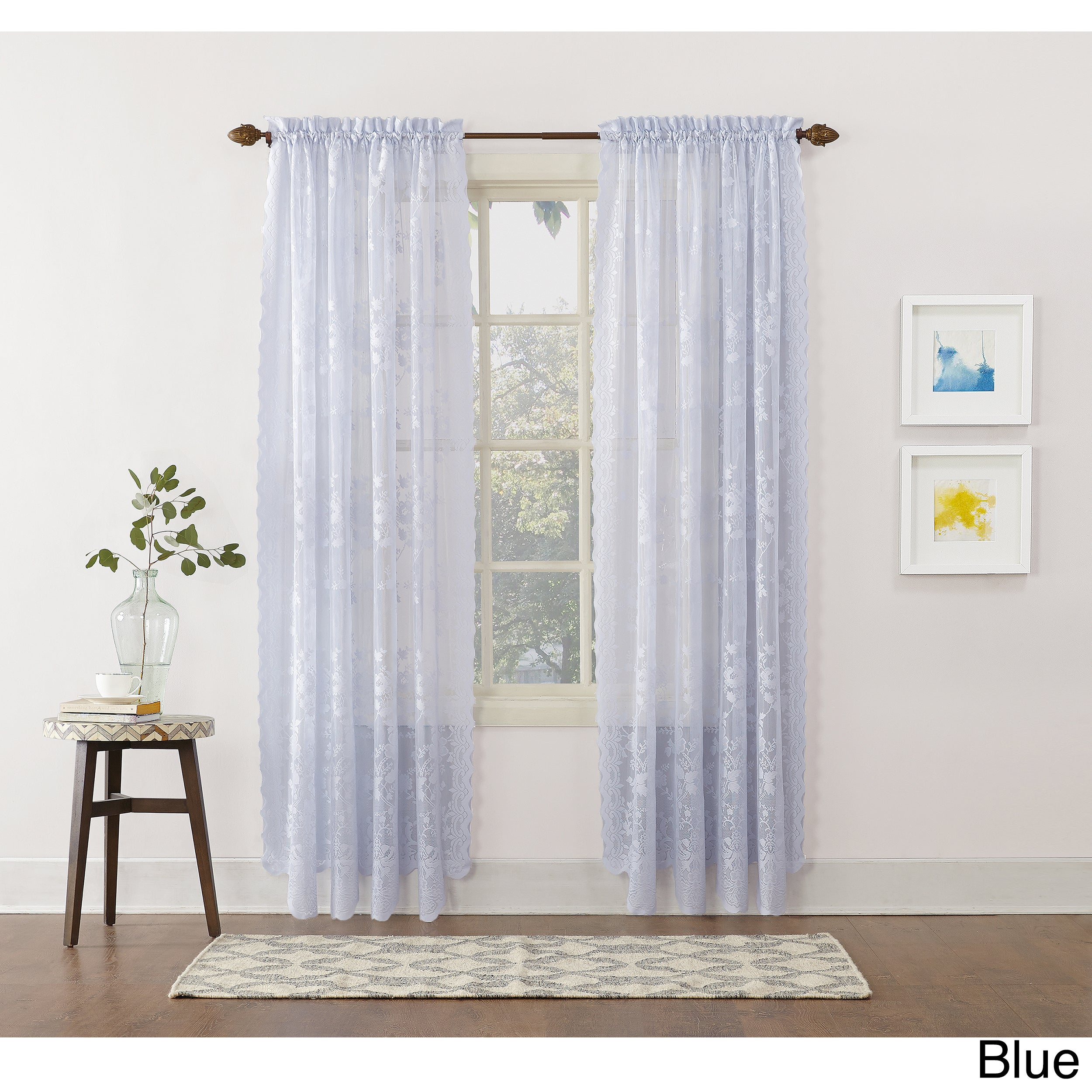 No. 918 Alison Rod Pocket Lace Curtain Panel (63 Inches -...