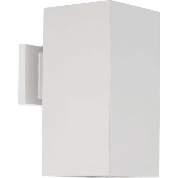 Progress Lighting White Aluminum 6-inch Square LED Down-light Wall Lantern