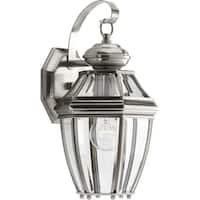 Progress Lighting New Haven Nickel-finish Aluminum 1-light Small Wall Lantern