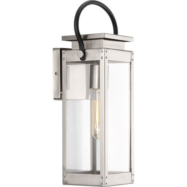 Union Square Silver-colored Stainless Steel Small One-light Wall Lantern