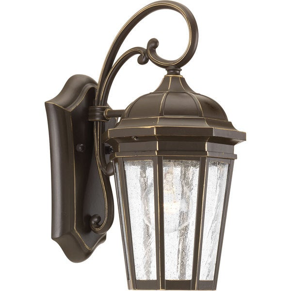 Verdae Brown Aluminum One-light Small Wall Lantern