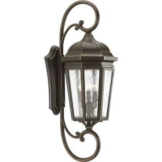 Progress Lighting Verdae Bronze-finish Aluminum Extra Large 3-light Wall Lantern