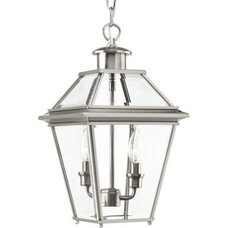 Progress Lighting Burlington Nickel-finish Aluminum 2-light Hanging Lantern
