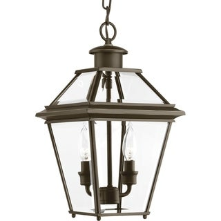 Progress Lighting Burlington Bronze Aluminum Two-light Hanging Lantern
