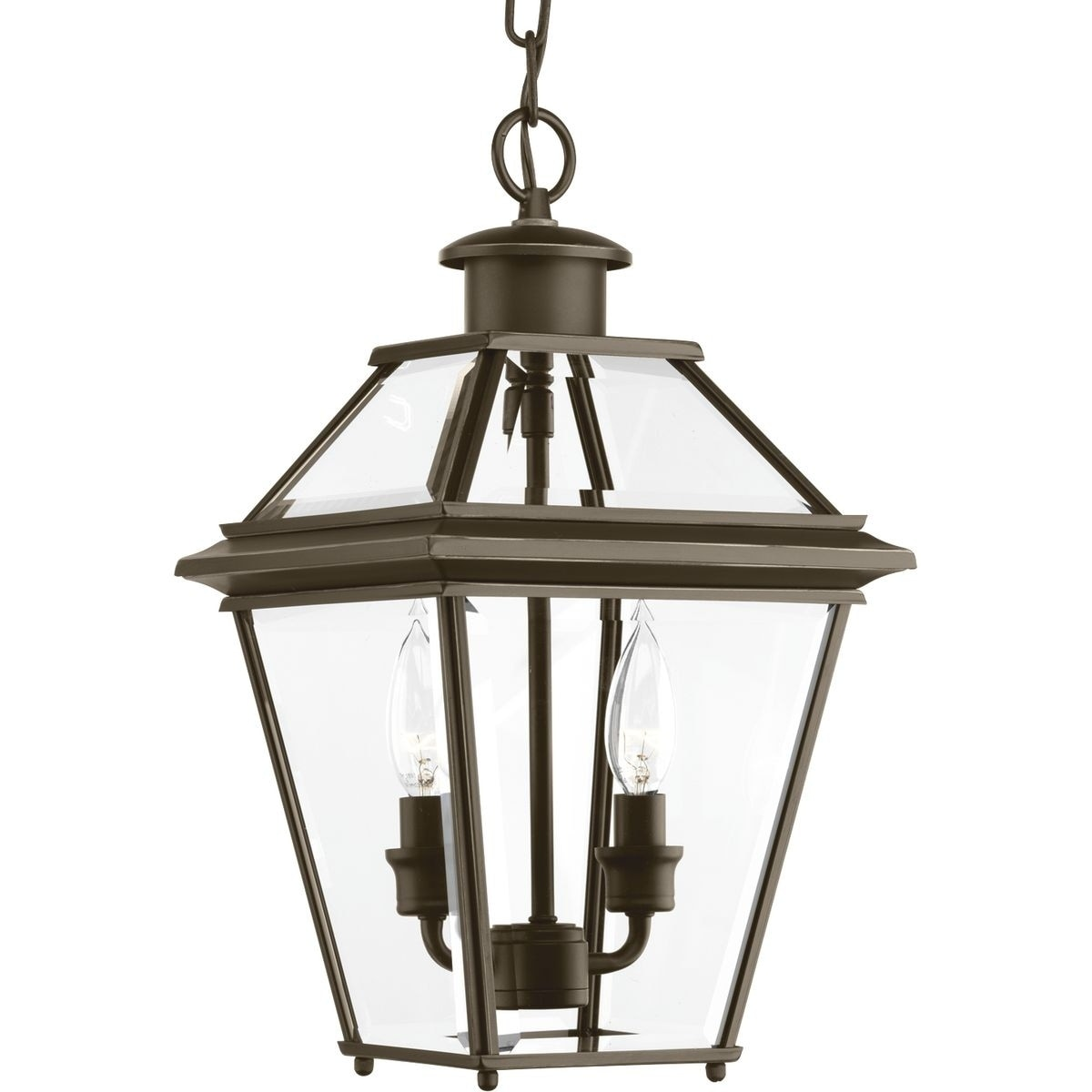 Progress Lighting Burlington Bronze Aluminum Two Light Hanging Lantern