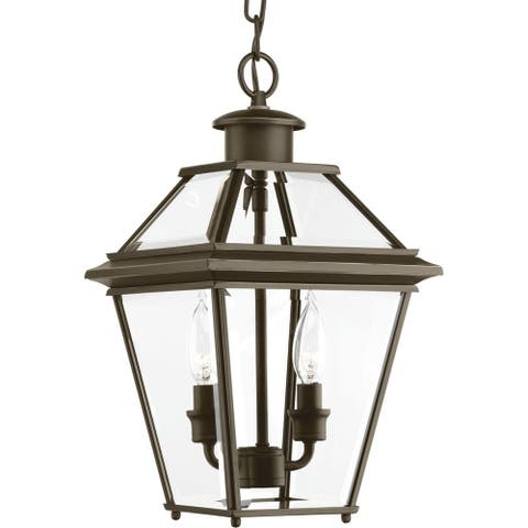 Progress Lighting Burlington Bronze Aluminum Two-light Hanging Lantern