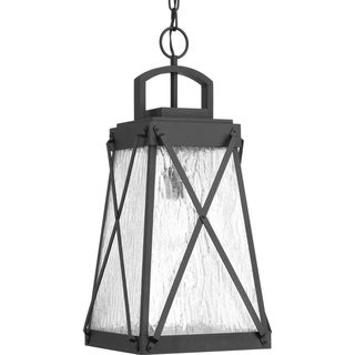 Progress Lighting Creighton Black Aluminum 1-light Hanging Lantern