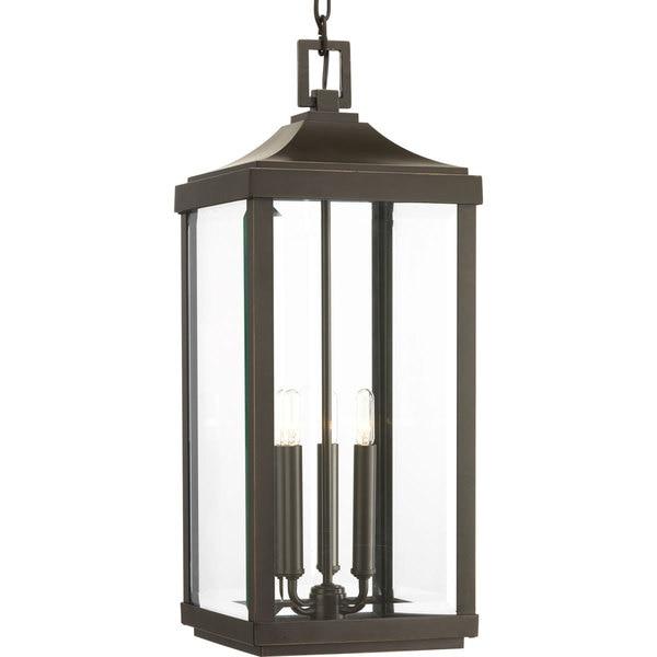 Progress Lighting Gibbes Street Bronze Finish Aluminum 3 Light Hanging Lantern Free Shipping