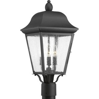 Progress Lighting Kiawah Black Aluminum 3-light Post Lantern