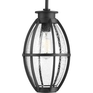 Progress Lighting Pier 33 Black Aluminum 1-light Hanging Outdoor Lantern