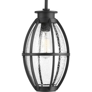 Progress Lighting Pier 33 Black Aluminum 1-light Hanging Outdoor Lantern