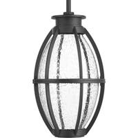 Progress Lighting Pier 33 Black Aluminum 1-light LED Hanging Lantern