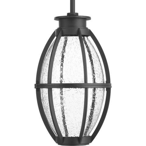 Progress Lighting Pier 33 Black Aluminum 1-light LED Hanging Lantern