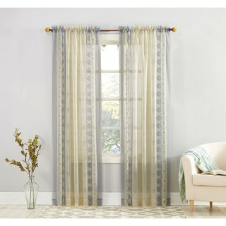 No. 918 Tosha Medallion Print Sheer Voile Curtain Panel