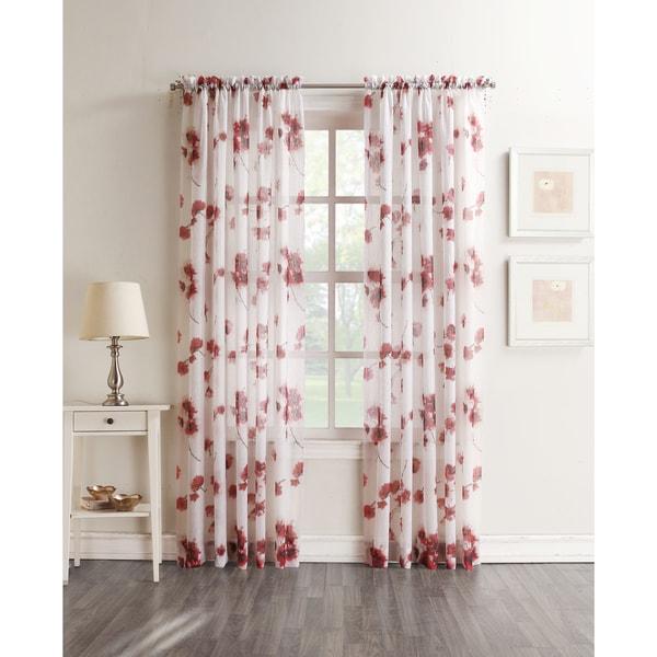 No. 918 Kiki Voile Sheer Print Rod Pocket Curtain Panel