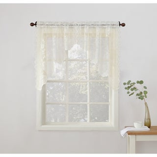 No. 918 Alison Sheer Lace Kitchen Swag Curtain Pair