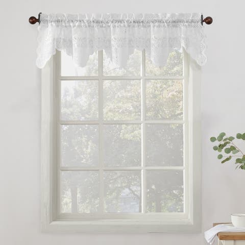 No. 918 Alison Sheer Lace Kitchen Curtain Valance