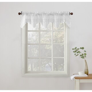 No. 918 Alison Sheer Lace Kitchen Curtain Valance (2 options available)