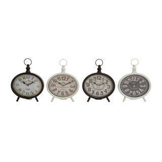The Gray Barn Willow Way Metal Desk Clocks (Pack of 4)