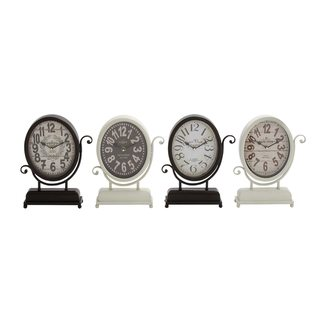 Metal Desk Clock (Set of 4)