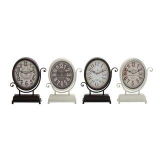 Metal Desk Clock (Set of 4)