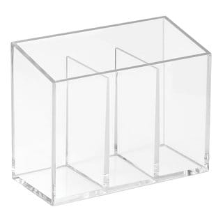 Interdesign Clarity Clear Plastic Divided Organizer