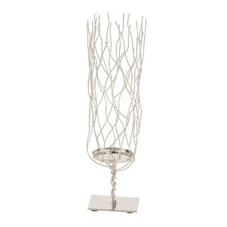 Silver Stainless Steel Modern Reflections Candleholder