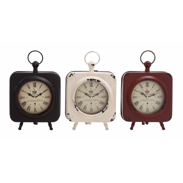 Rustic Table Clock: Shop Copper Grove Chatfield Metal Rustic Style Table