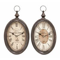 Maison Rouge Lamartine Metal Wall Clock (Set of 2)