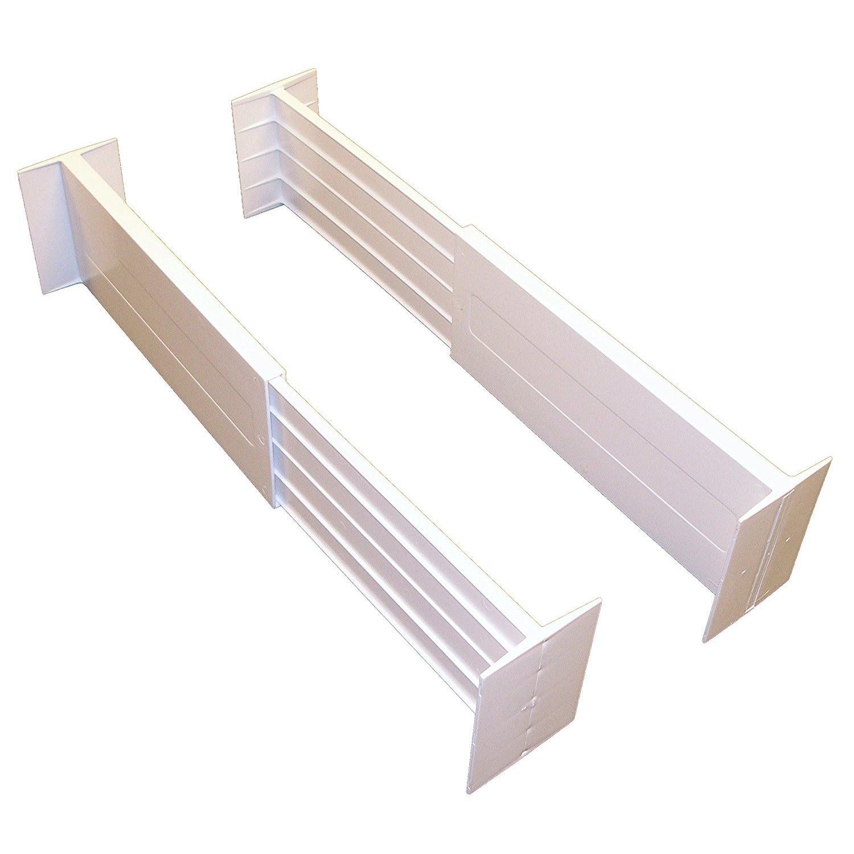 White Spring-loaded Drawer Dividers (Set of 2) (White) (P...