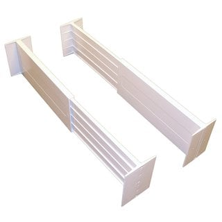 White Spring-loaded Drawer Dividers (Set of 2)