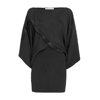 Stella McCartney Women's Tiffany Black Viscose and Silk Draped Dress (2 options available)