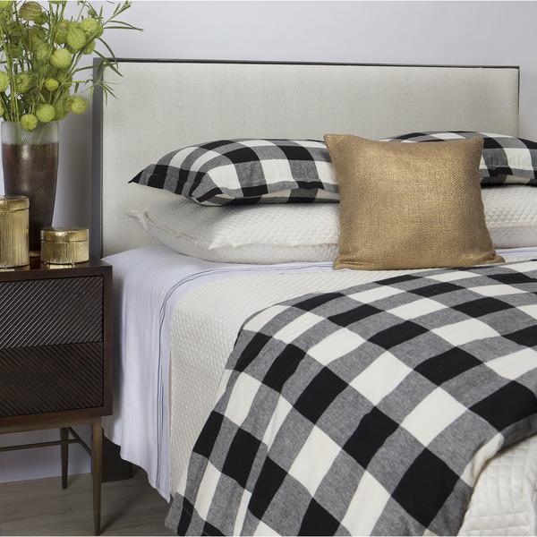 Art of Home from Ann Gish Black and White Plaid Duvet Set