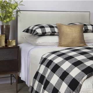 Art of Home from Ann Gish Black and White Plaid Duvet Set