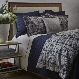 Art of Home from Ann Gish Navy and Silver Scratch Duvet Set
