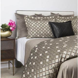 Art of Home from Ann Gish Taupe Scales Duvet Set