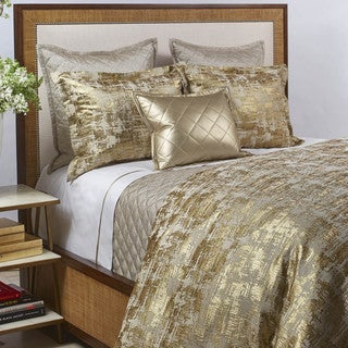 Art of Home from Ann Gish Gold Scratch Duvet Set