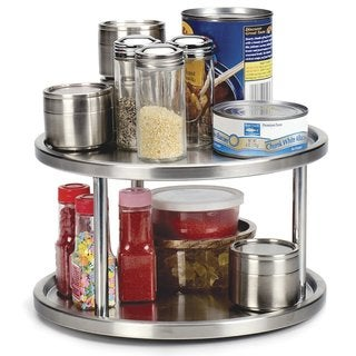 RSVP Stainless Steel 2-tier Kitchen Turntable